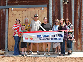 Brownwood Chamber Holds Ribbon Cutting for Bluebonnet Barn