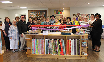 The Brownwood and Early Chambers of Commerce held a joint Ribbon Cutting for Quilter's Hide Out