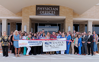 Brownwood Area Chamber Holds Ribbon Cutting for New Member Hendrick Medical Plaza