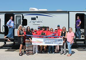 Brownwood Chamber Holds Ribbon Cutting for KANAR RV Sales