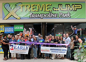 Joint Ribbon Cutting Held for Xtreme Jump Trampoline Park