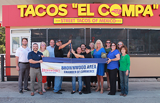 Brownwood Chamber Holds Ribbon Cutting for New Member Tacos El Compa