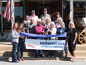 Brownwood Chamber Holds Ribbon Cutting for New Member Texas Crafts & Gifts