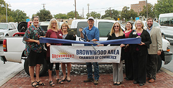 Brownwood Chamber Holds Ribbon Cutting for New Member Quality Grass Guys